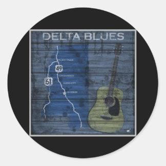 Delta Blues Grunge Blues Highway Round Sticker