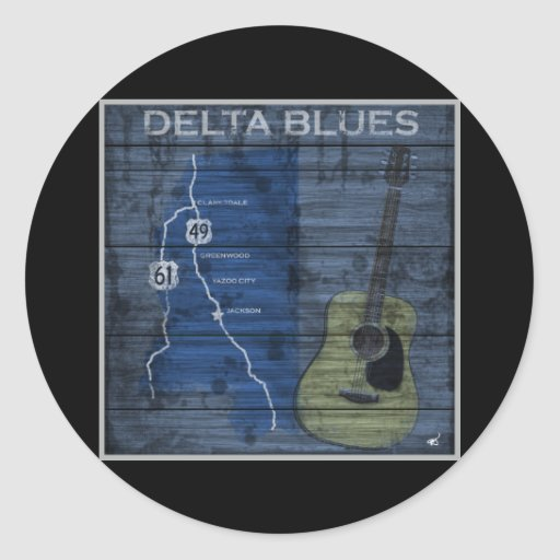Delta Blues Grunge Blues Highway Sticker