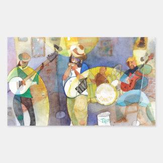 Delta Blues Music Design Rectangular Stickers