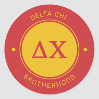Delta Chi | Badge Classic Round Sticker