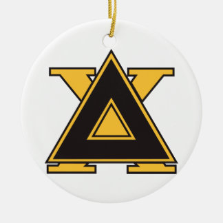 Delta Chi Badge Gold Christmas Ornament