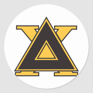 Delta Chi Badge Gold Classic Round Sticker