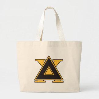 Delta Chi Badge Gold Large Tote Bag