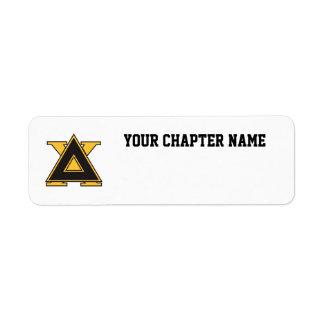 Delta Chi Badge Gold Return Address Label
