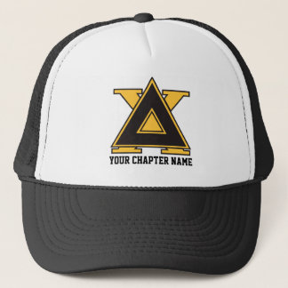 Delta Chi Badge Gold Trucker Hat