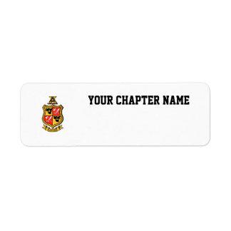 Delta Chi Coat of Arms Return Address Label