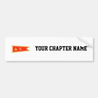 Delta Chi Flag Bumper Sticker