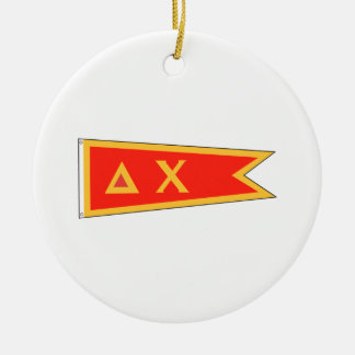 Delta Chi Flag Christmas Ornament