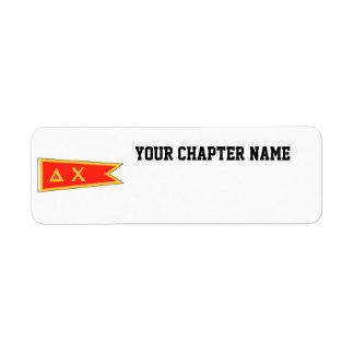 Delta Chi Flag Return Address Label