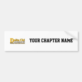 Delta Chi Name and Logo Gold Bumper Sticker