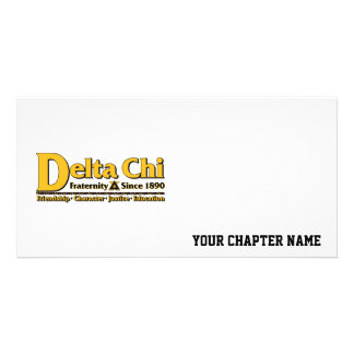 Delta Chi Name and Logo Gold Card