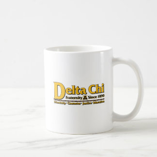 Delta Chi Name and Logo Gold Coffee Mug