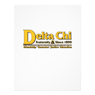 Delta Chi Name and Logo Gold Flyer