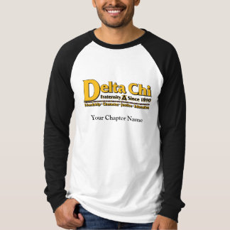 Delta Chi Name and Logo Gold T-Shirt