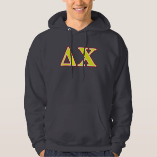 Delta Chi Red and Yellow Letters Hoodie