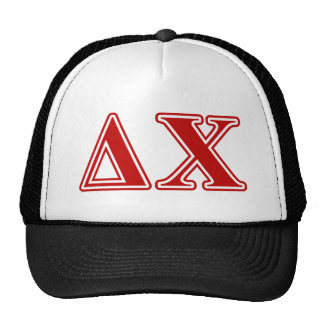 Delta Chi Red Letters Cap
