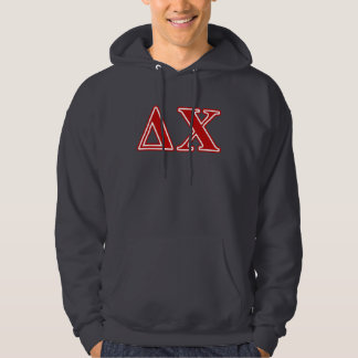 Delta Chi Red Letters Hoodie