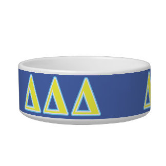 Delta Delta Delta Blue and Yellow Letters Bowl