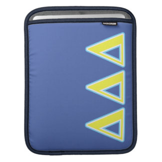 Delta Delta Delta Blue and Yellow Letters iPad Sleeve