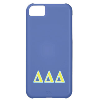 Delta Delta Delta Blue and Yellow Letters iPhone 5C Case