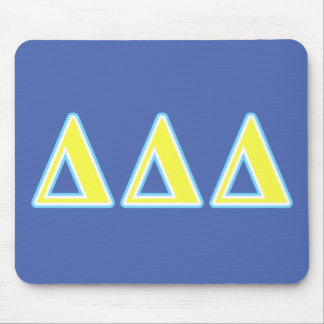Delta Delta Delta Blue and Yellow Letters Mouse Mat