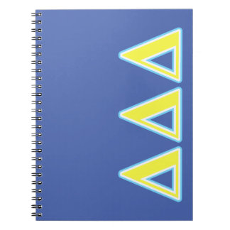 Delta Delta Delta Blue and Yellow Letters Notebooks