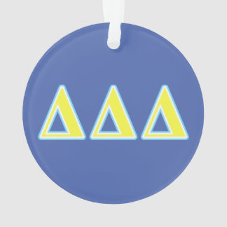 Delta Delta Delta Blue and Yellow Letters Ornament