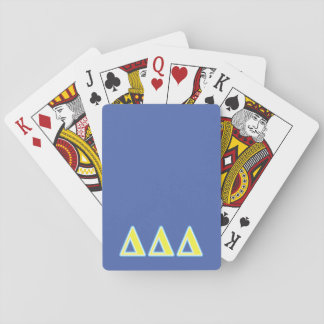 Delta Delta Delta Blue and Yellow Letters Playing Cards