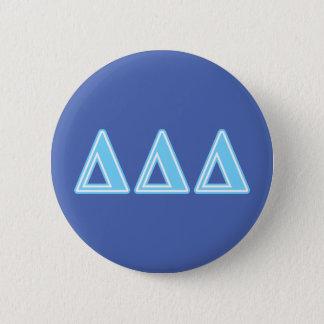Delta Delta Delta Blue Letters 6 Cm Round Badge