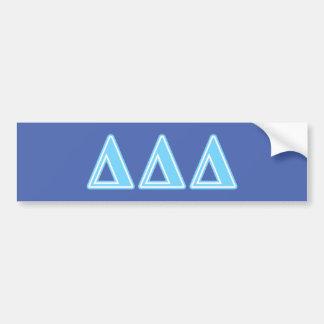 Delta Delta Delta Blue Letters Bumper Sticker