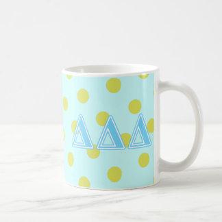 Delta Delta Delta Blue Letters Coffee Mug