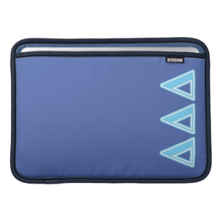 Delta Delta Delta Blue Letters MacBook Sleeve