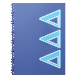 Delta Delta Delta Blue Letters Notebooks