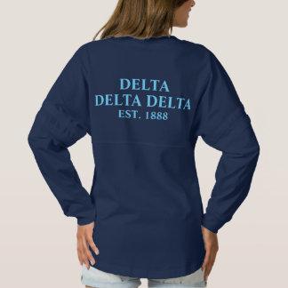 Delta Delta Delta Blue Letters Spirit Jersey