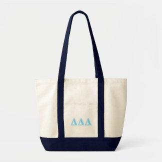 Delta Delta Delta Blue Letters Tote Bag