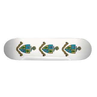 Delta Delta Delta Crest Color 21.6 Cm Old School Skateboard Deck