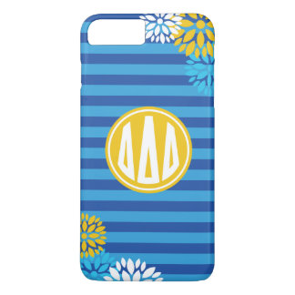 Delta Delta Delta | Monogram Stripe Pattern iPhone 8 Plus/7 Plus Case