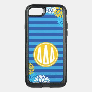 Delta Delta Delta | Monogram Stripe Pattern OtterBox Commuter iPhone 8/7 Case