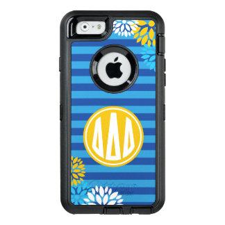 Delta Delta Delta   Monogram Stripe Pattern OtterBox Defender iPhone Case