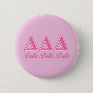 Delta Delta Delta Pink Letters 6 Cm Round Badge