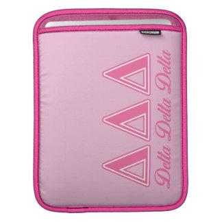 Delta Delta Delta Pink Letters iPad Sleeve