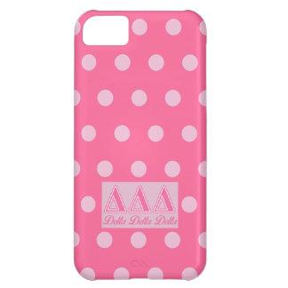 Delta Delta Delta Pink Letters iPhone 5C Case