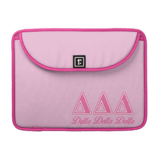 Delta Delta Delta Pink Letters Sleeve For MacBook Pro