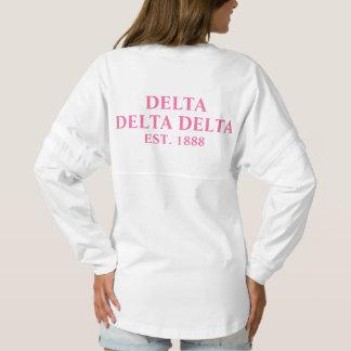 Delta Delta Delta Pink Letters Spirit Jersey