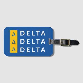 Delta Delta Delta | Stacked Luggage Tag