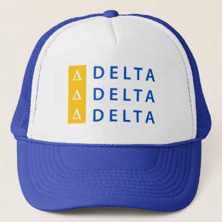 Delta Delta Delta   Stacked Trucker Hat