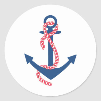 Delta Gamma Anchor Classic Round Sticker