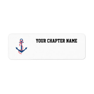 Delta Gamma Anchor Return Address Label