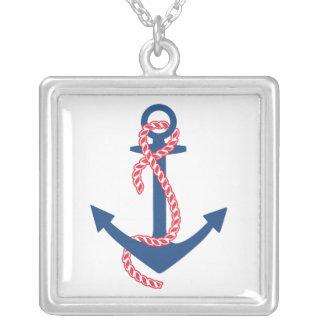 Delta Gamma Anchor Silver Plated Necklace