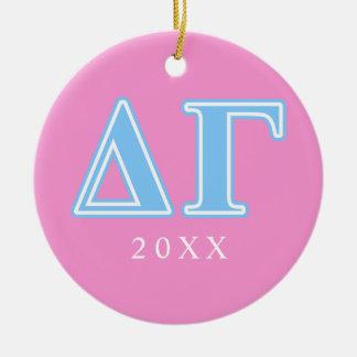 Delta Gamma Blue Letters Christmas Ornament